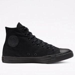 CONVERSE Black Monochrome High Tops Size 8